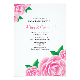 Watercolor Flower Engagement Party Invitation