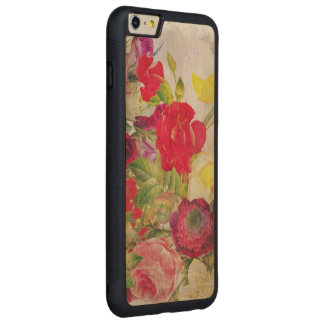 Watercolor Flower Garden Carved Maple iPhone 6 Plus Bumper Case