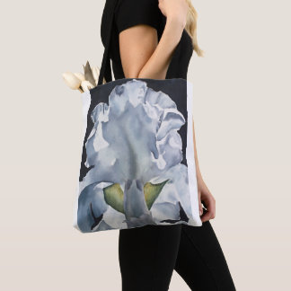 Watercolor Flower Iris Print Tote Bag
