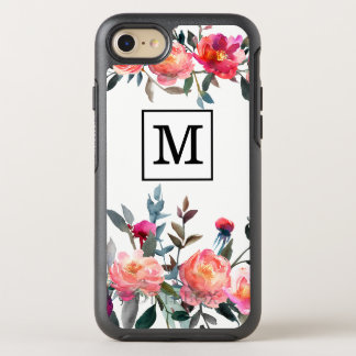 Watercolor Flower Monogram Case