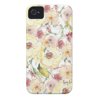 Watercolor Flower Pattern iPhone Case