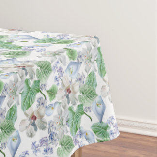 Watercolor Flower Pattern Tablecloth
