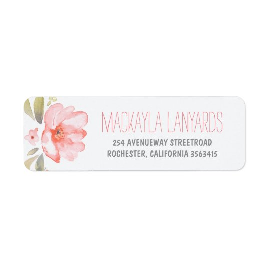 Watercolor Flower Pink Floral Wedding