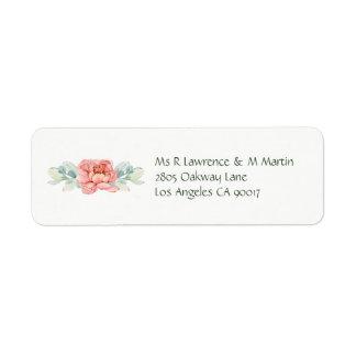 Watercolor Flower Return Address Labels
