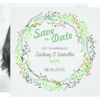 Watercolor Flower Save the Date Invitation