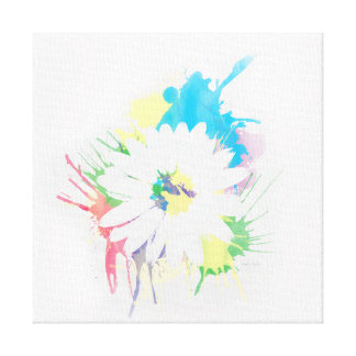 Watercolor Flower Silhouette Canvas Print