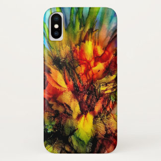 Watercolor Flower Splash Medium Case