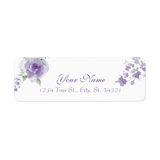 Watercolor Flower to Be Address Labels