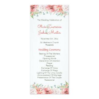 Watercolor Flower Wedding Programs
