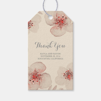 Watercolor Flowers Botanical Vintage Wedding Pack Of Gift Tags