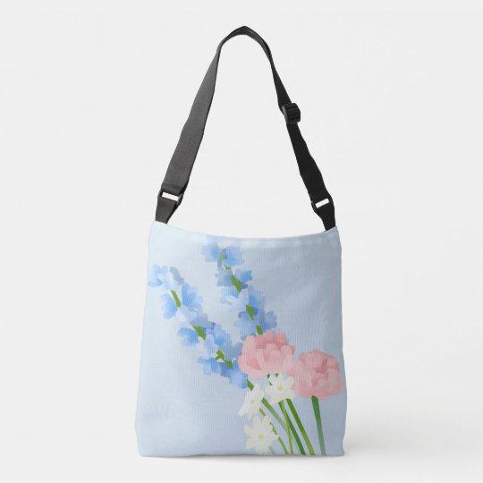 Watercolor Flowers Crossbody Bag