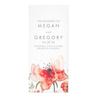 Watercolor Flowers Elegant Trendy Wedding Programs