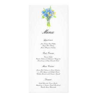 Watercolor Flowers Elegant Wedding Wedding Menu