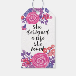 Watercolor Flowers Gift Tags