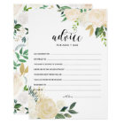 Watercolor Flowers Gold Advice for the Parents Card