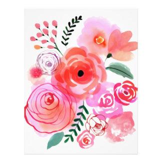Watercolor Flowers Letterhead