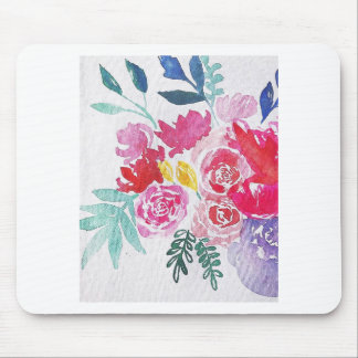 Watercolor Flowers Mouse Pad