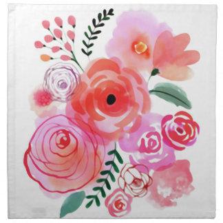 Watercolor Flowers Napkin