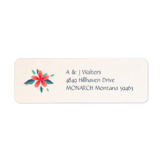 Watercolor Flowers Noel Address Label