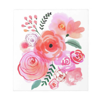 Watercolor Flowers Notepad