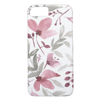 Watercolor Flowers - Rustic Floral iPhone Case