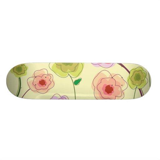 Watercolor Flowers Skate Decks
