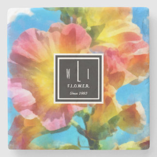 Watercolor flowers Stone Coaster