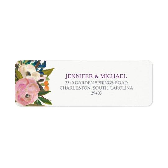 Watercolor Flowers Wedding