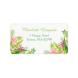 Watercolor Flowers | Wedding Address Label