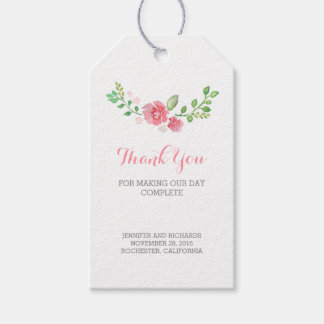 Watercolor Flowers Wedding Pack Of Gift Tags