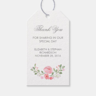 Watercolor Flowers Wedding Tags Pack Of Gift Tags