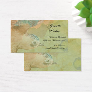Watercolor Flying Bird Business Card