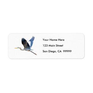 Watercolor Flying Blue Heron