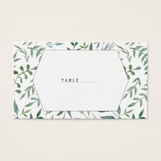 Watercolor Foliage Greenery Wedding Business Card