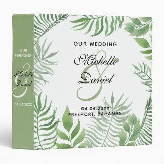 Watercolor Foliage Wedding Planner/Album Vinyl Binders