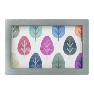 Watercolor Forest Pattern Belt Buckles