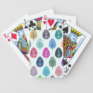 Watercolor Forest Pattern Bicycle Playing Cards