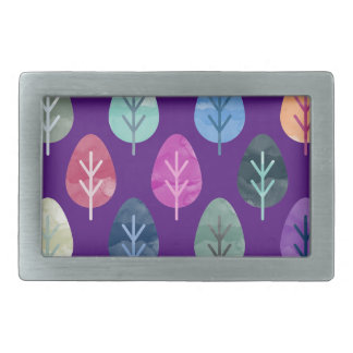 Watercolor Forest Pattern II Belt Buckle