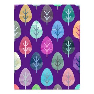 Watercolor Forest Pattern II Letterhead