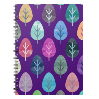 Watercolor Forest Pattern II Spiral Notebook