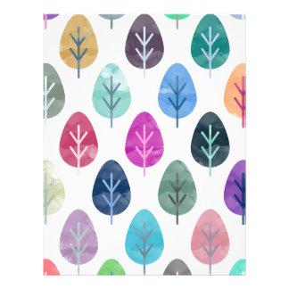 Watercolor Forest Pattern Letterhead