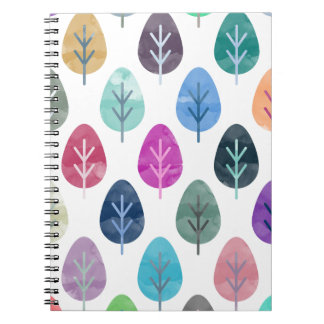 Watercolor Forest Pattern Notebooks