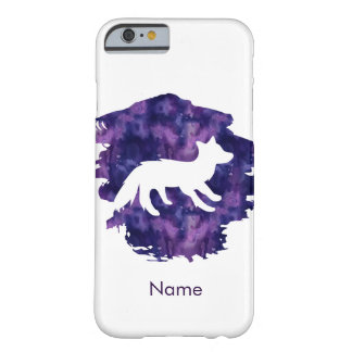 Watercolor Fox Barely There iPhone 6 Case