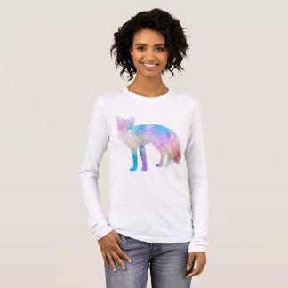 Watercolor Fox Long Sleeve T-Shirt