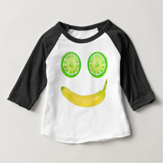 Watercolor fruit smiley face baby T-Shirt