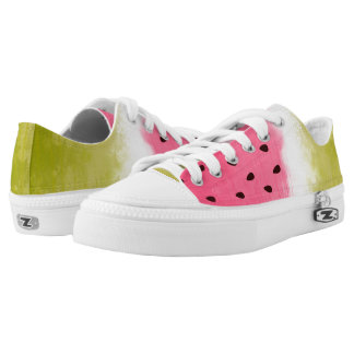Watercolor fruity pattern Low-Top sneakers