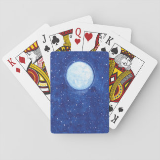Watercolor Full Moon Playing Cards
