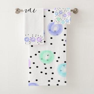 Watercolor Funfetti Bath Towel Set