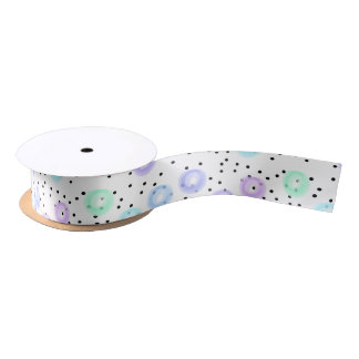 Watercolor Funfetti Satin Ribbon