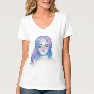 Watercolor Galaxy Girl shirt